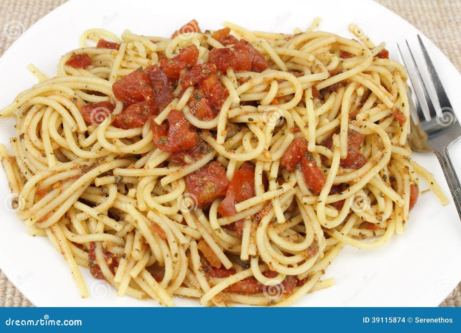 Spaghetti met Rode Tomaten
