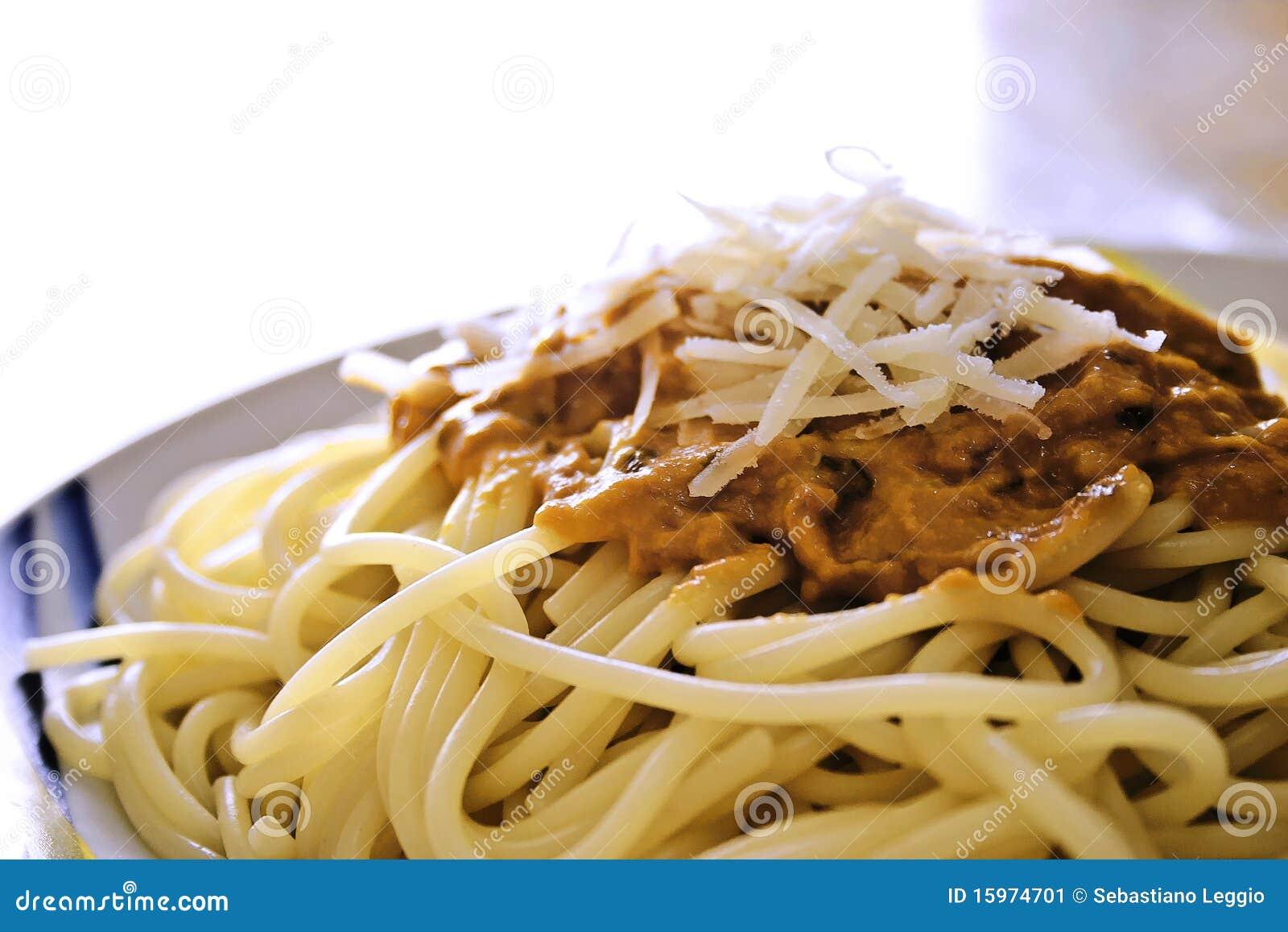 Spaghetti With Tomato Sauce Stock Image - Image: 15974701