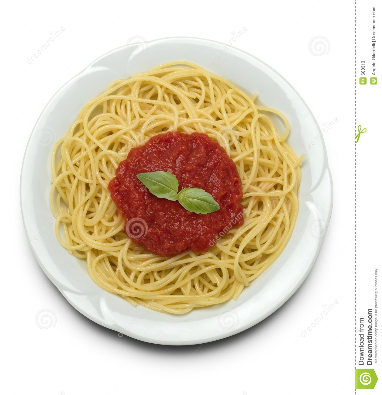 Spaghetti With Tomato Sauce Stock Photos - Image: 688313