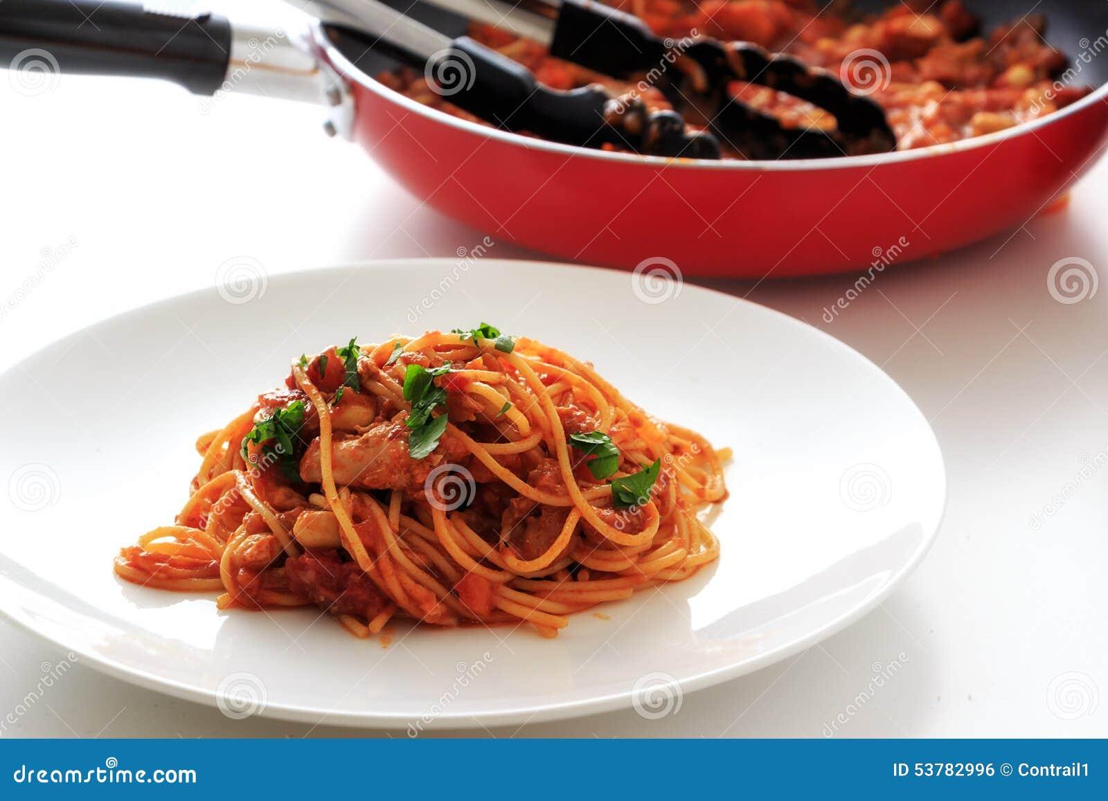 Spaghetti tomatosauce