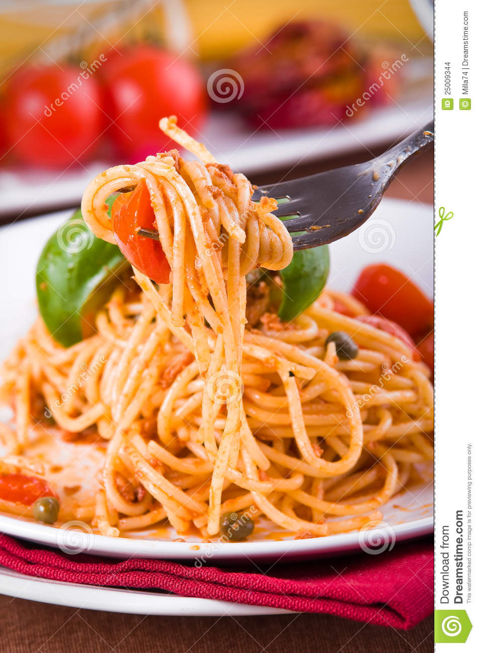 Tuna And Caper Tomato Pasta Recipe — Dishmaps