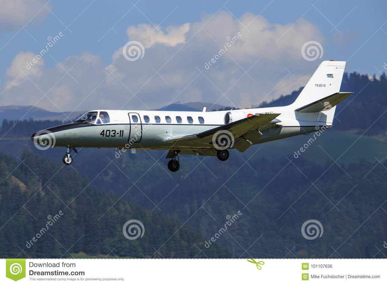 Spain Air Force Cessna 560 Citation Editorial Photo Image Of
