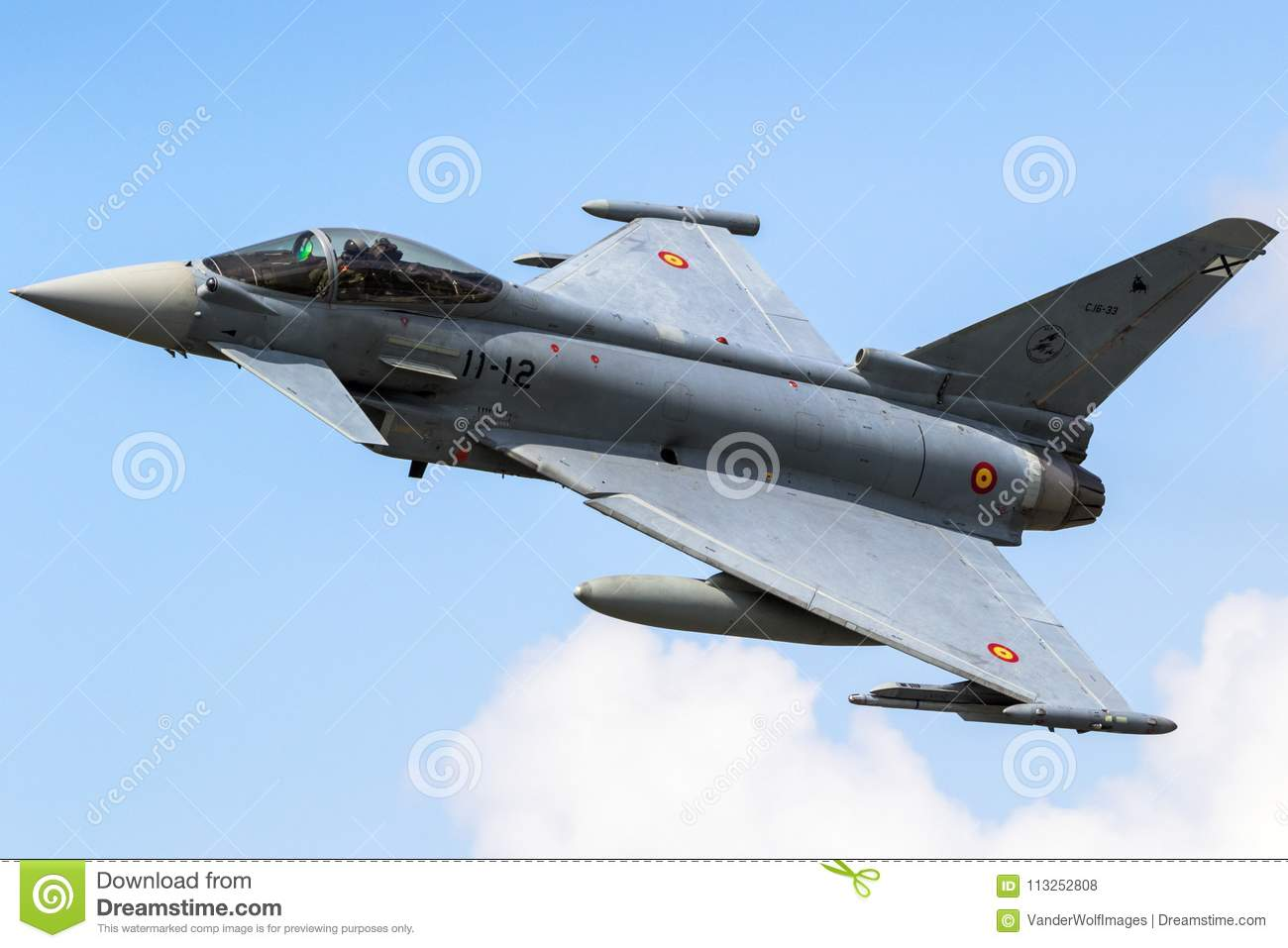 Spain Airforce Eurofighter Typhoon Fighter Plane Editorial