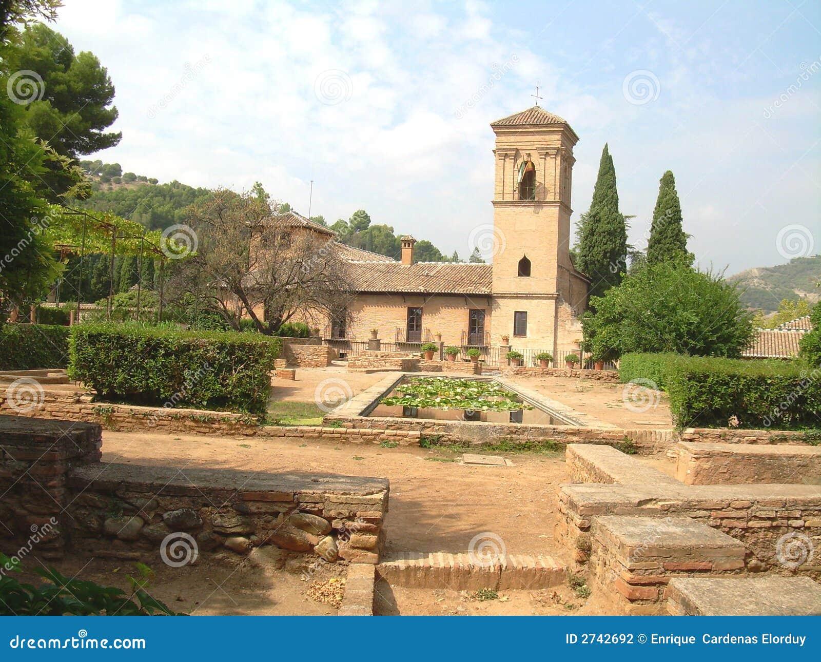 Spain Alahambra Moorish Patio