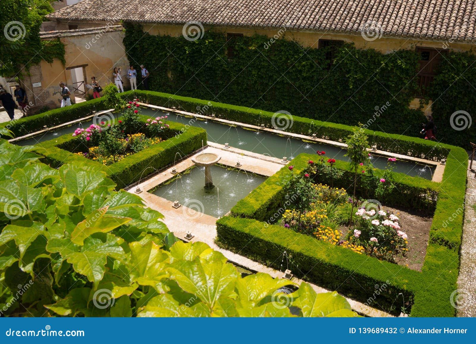 Botanical garden at Alhambra