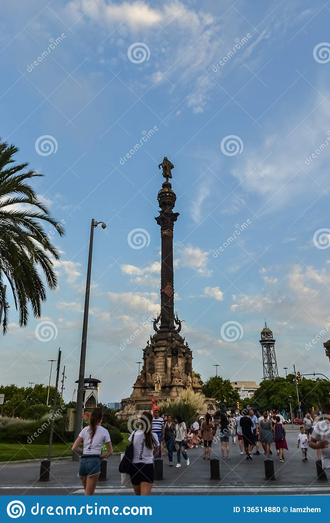 Spain Barcelona July 15, 2017. streets crowded with people, the historic district of the city for walks