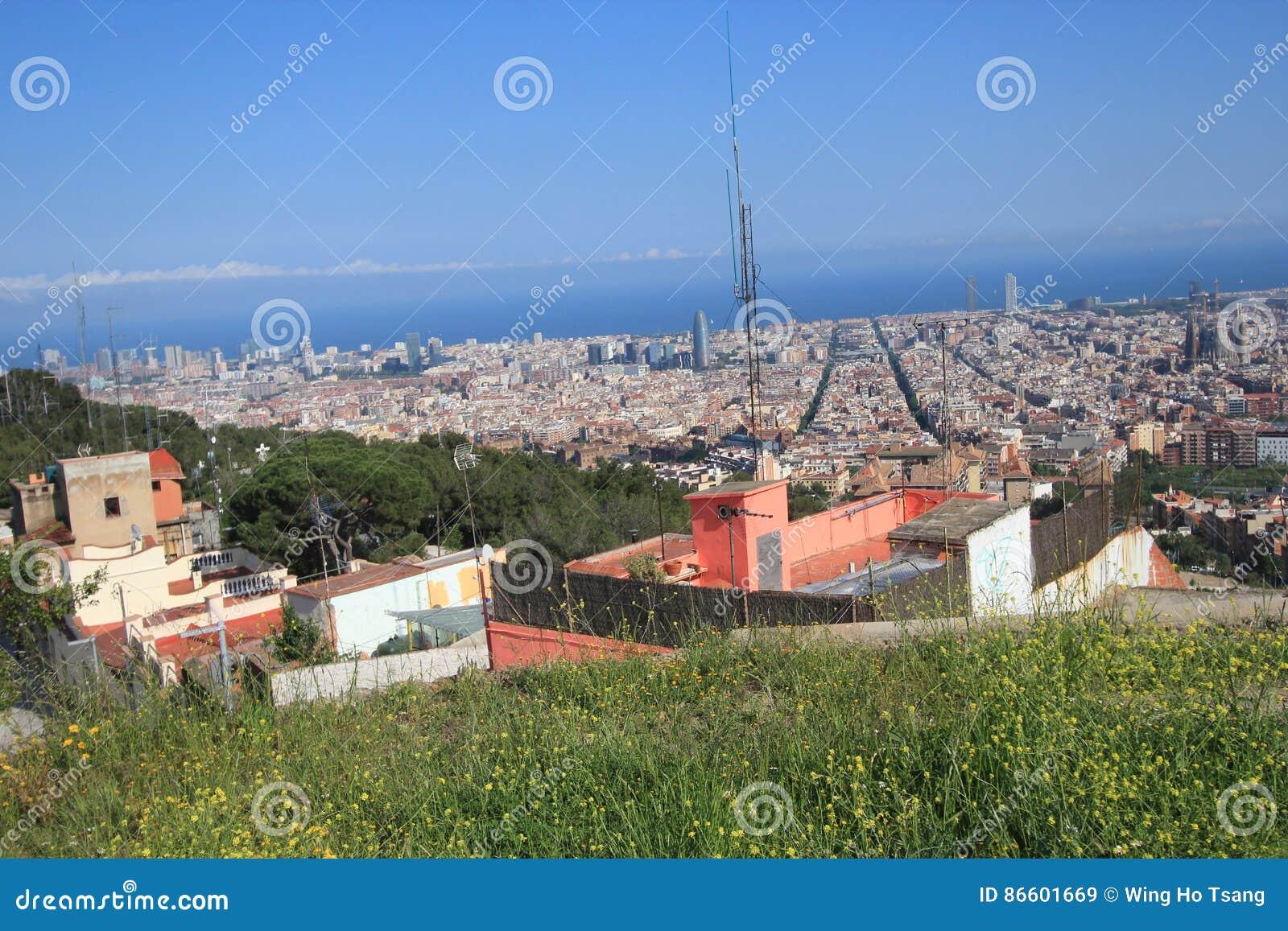 Spain Barcelona Street View Editorial Stock Image Image Of Majestic Espanya 86601669