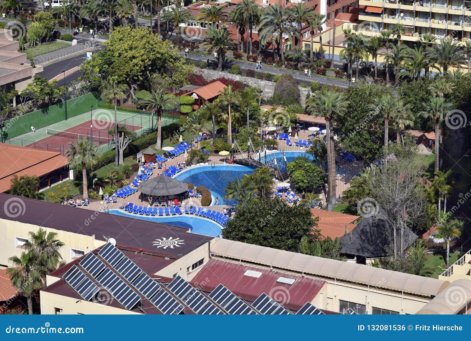 Spain Canary Islands Tenerife Puerto De La Cruz Editorial Photo Image Of Destination Pool 132081536