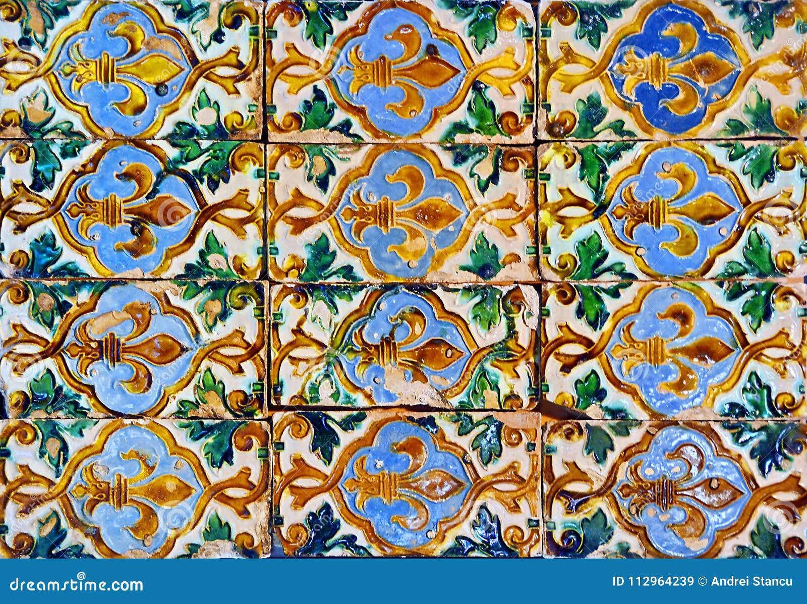 Spain Ceramic Tiles stock image. Image of blue, handmade - 112964239