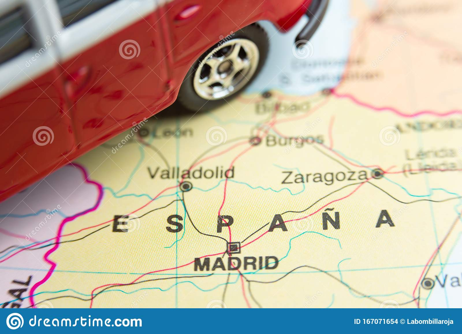 Spain Van Travel Stock Photo Image Of Camper Guide 167071654