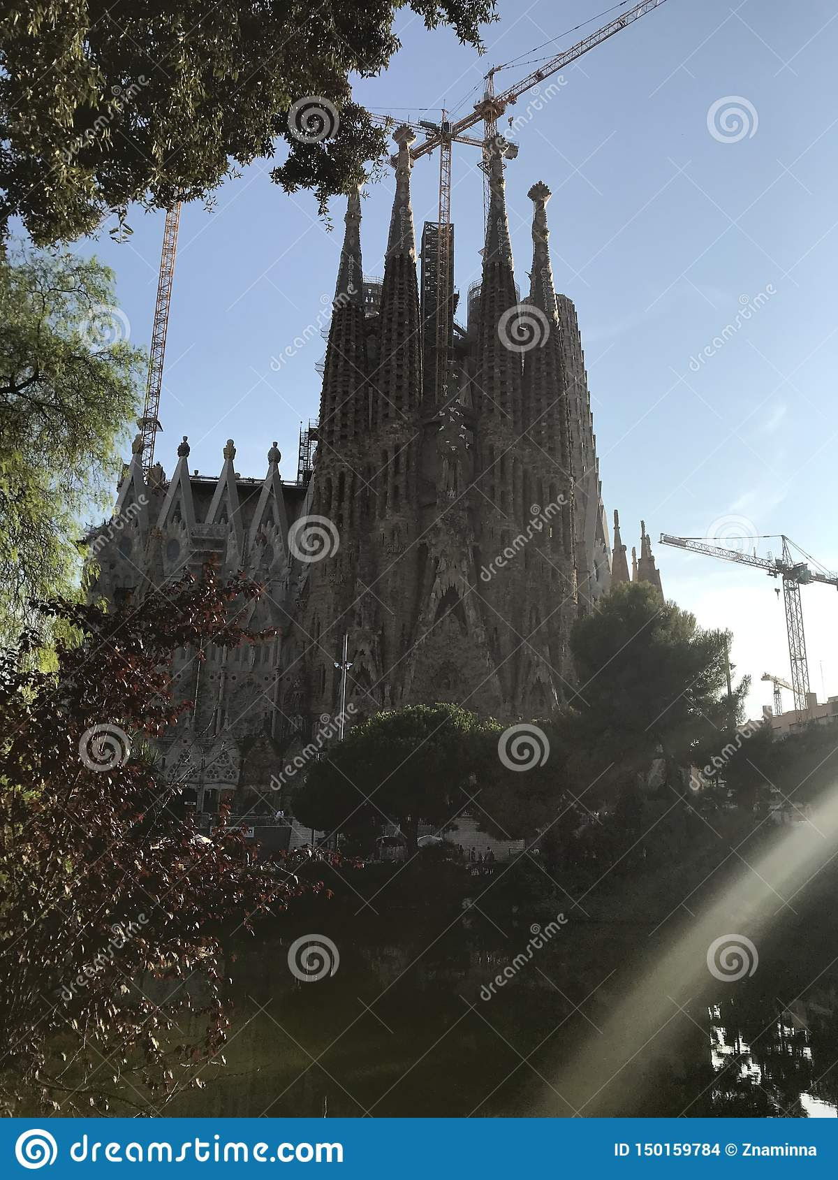 Spain, Europe. Barcelona, Sagrada de Familia