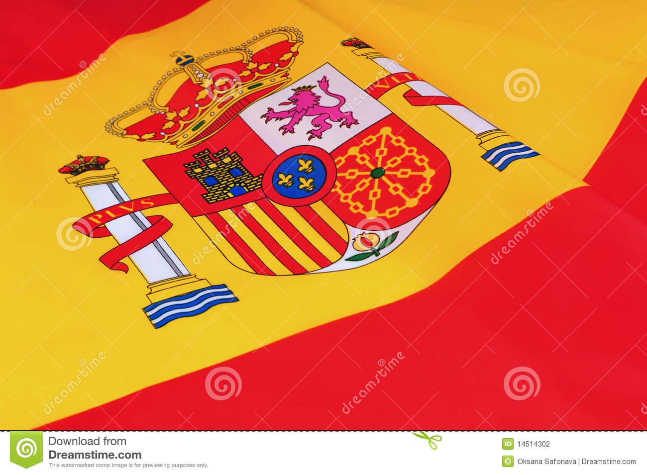 spain flag stock photography image 14514302