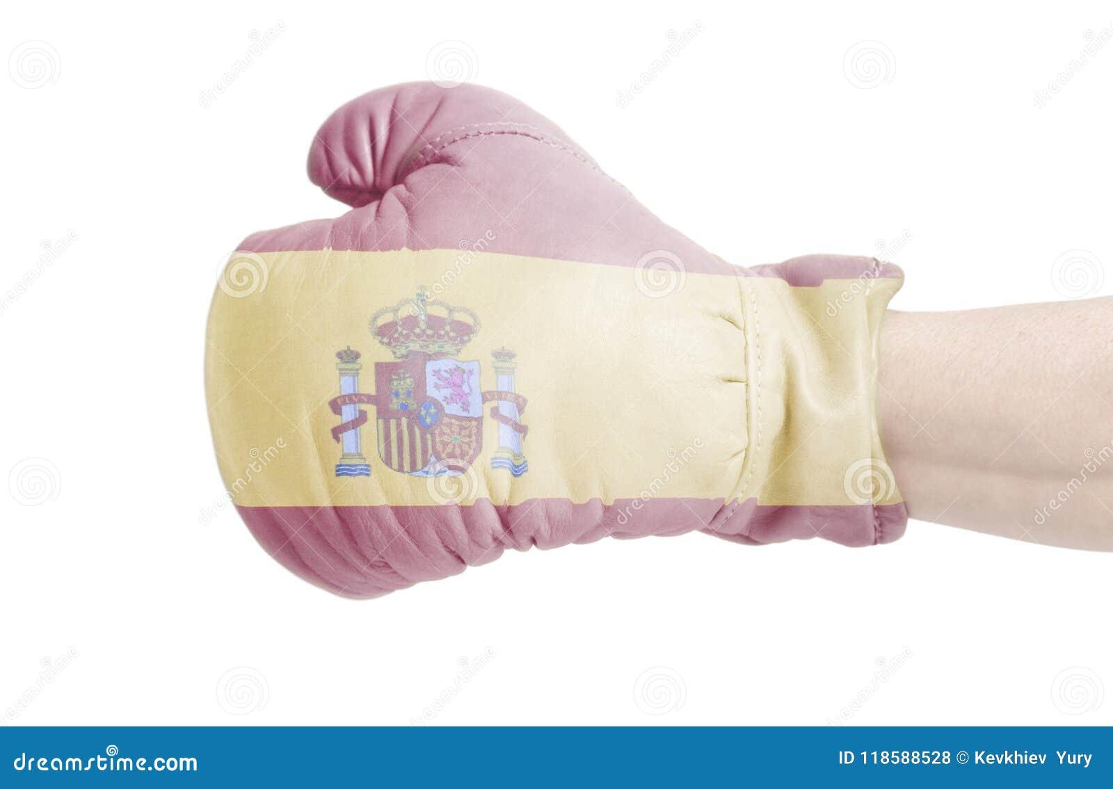 Spain Flag on boxing glove