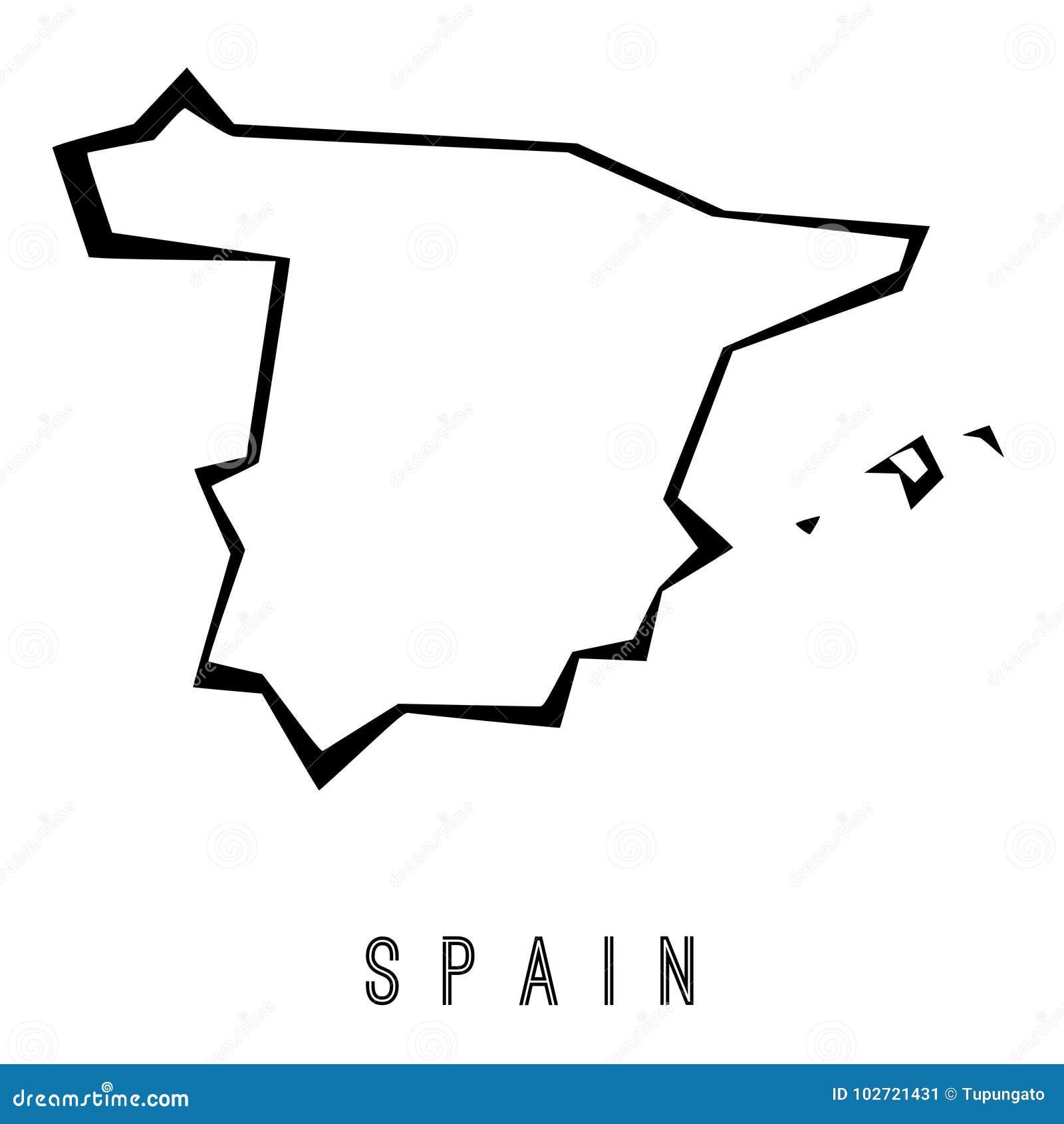 Spain Geometric Map Stock Vector Illustration Of Silhouette 102721431