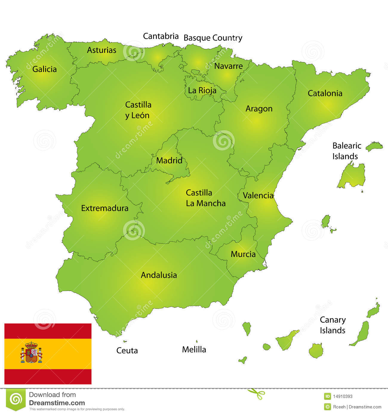 Spain map stock vector Illustration of design national 14910393