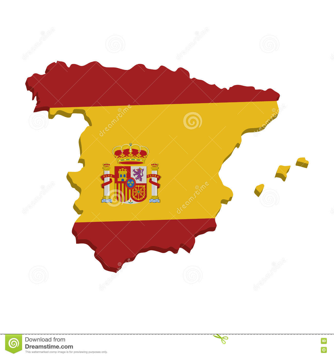 Map Of Spain Geography.Spain Map Geography Isolated Icon Stock Vector Illustration Of