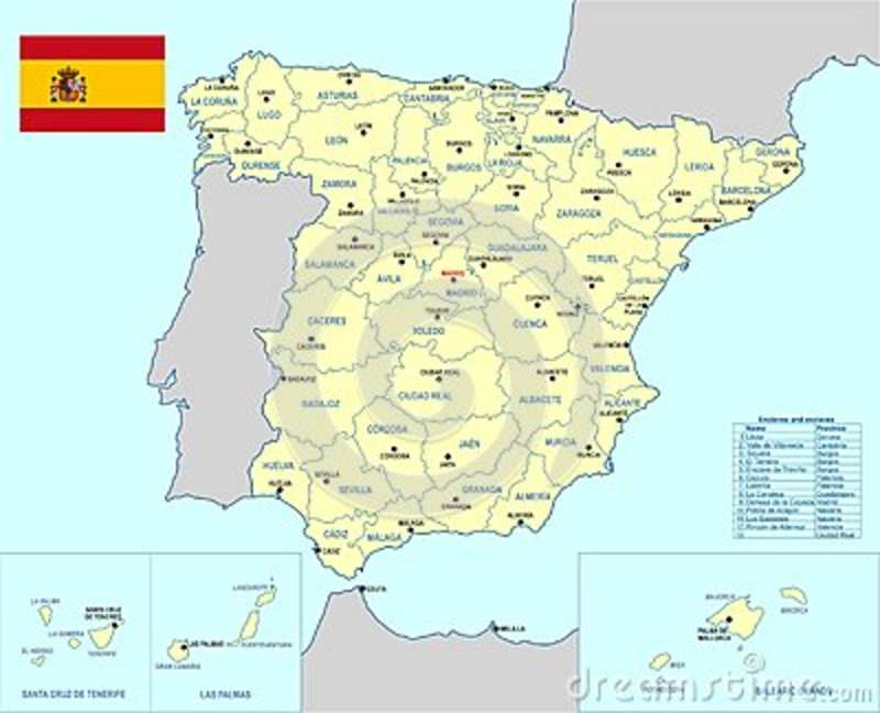 Spain Map Cdr Format Stock Vector Illustration Of Castellon