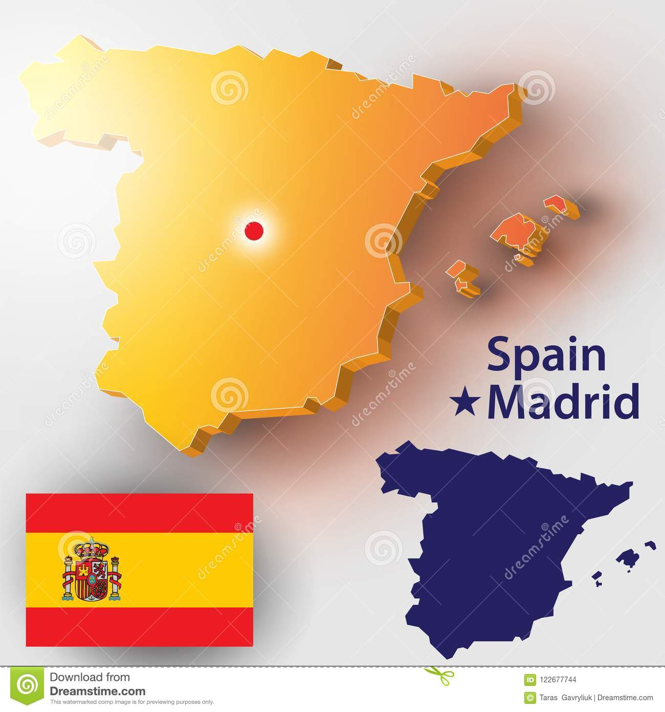 Map Of Spain Vector Free.Spain Stock Vector Illustration Of Icon Antique Banner 122677744