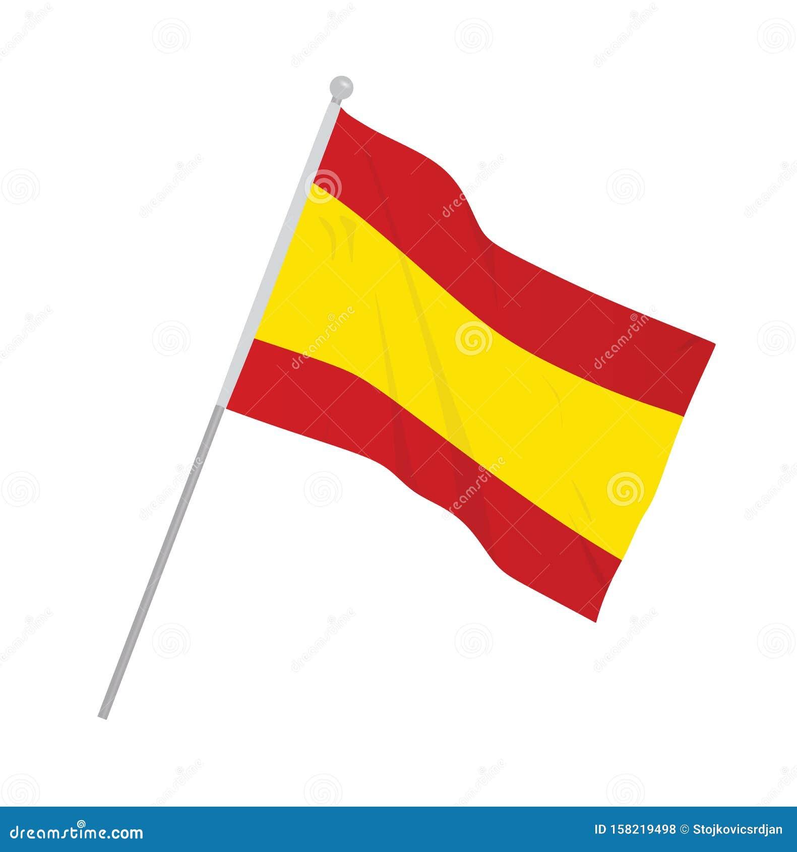 Spain national flag stock vector. Illustration of vector ...