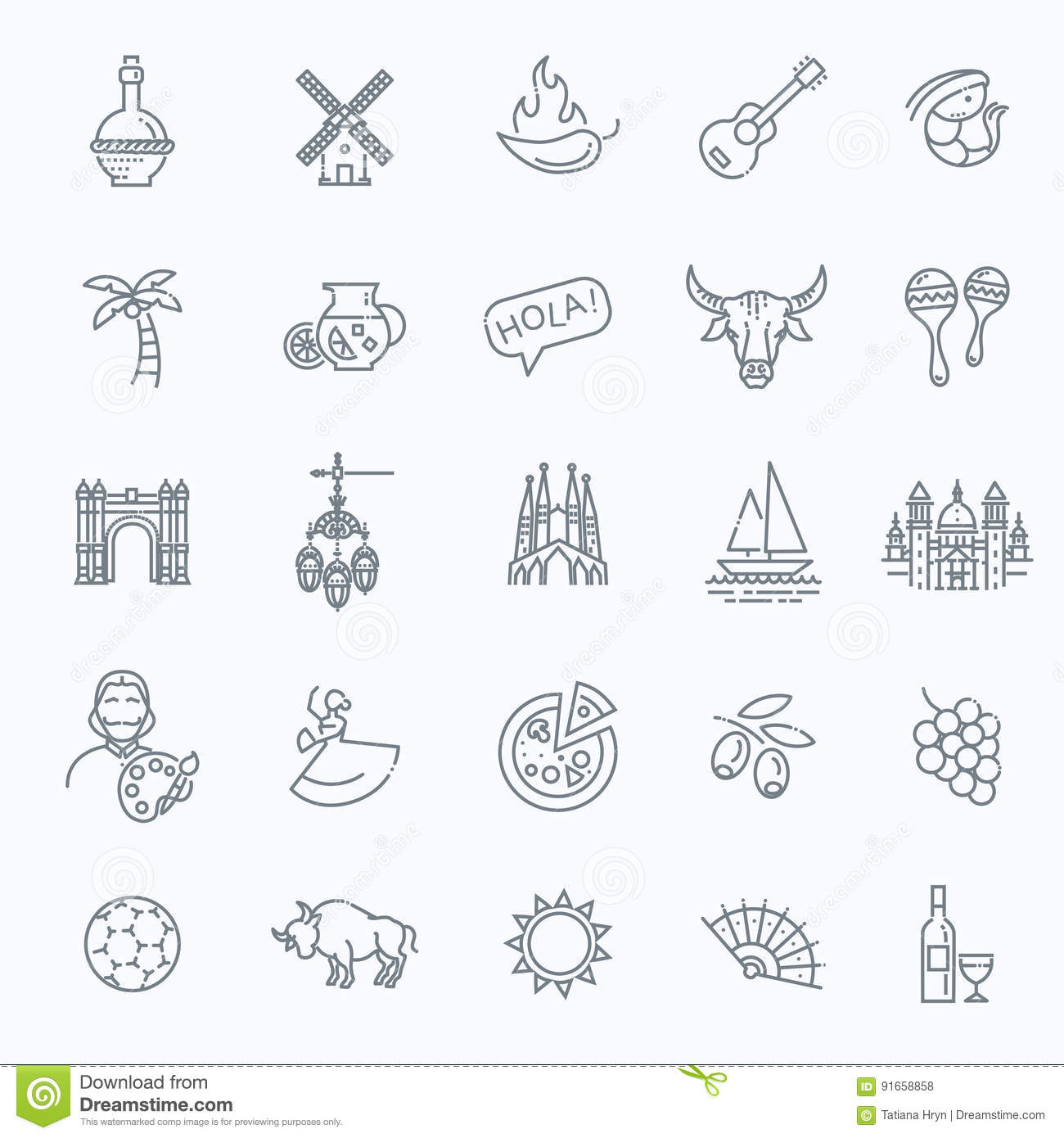 Spain background in shape of sun. Spanish traditional ...