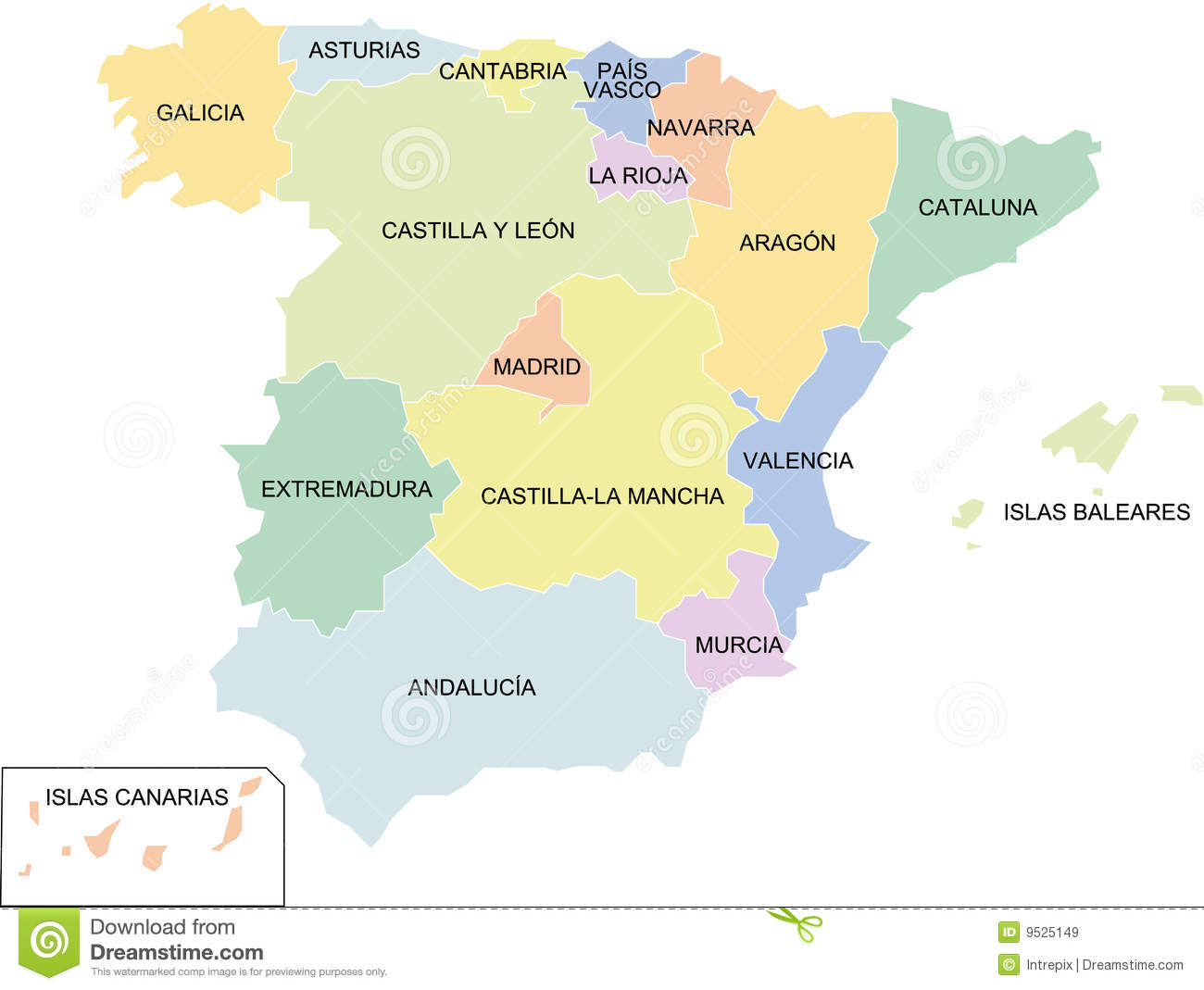 Spain Regions Royalty Free Stock Images Image - Spain regions map