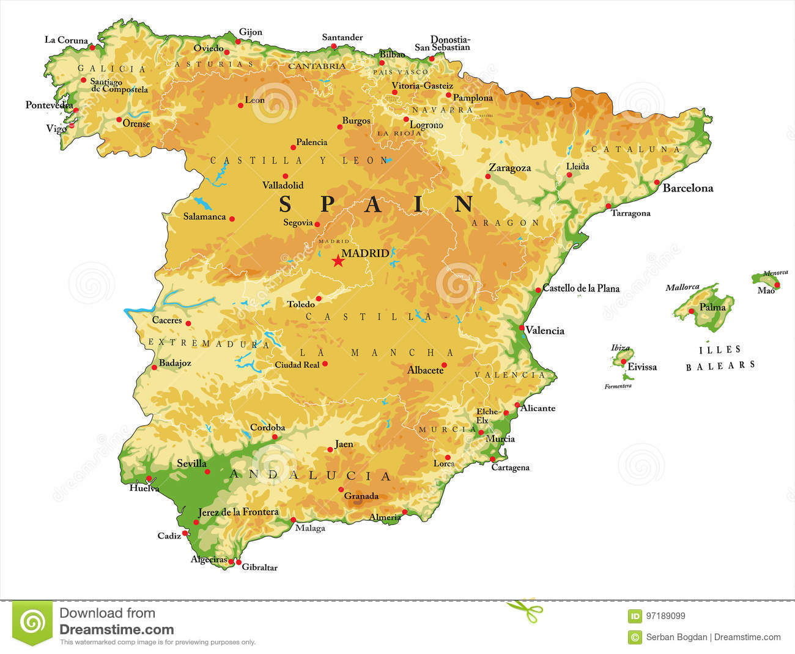 Tenerife Cartina Fisica