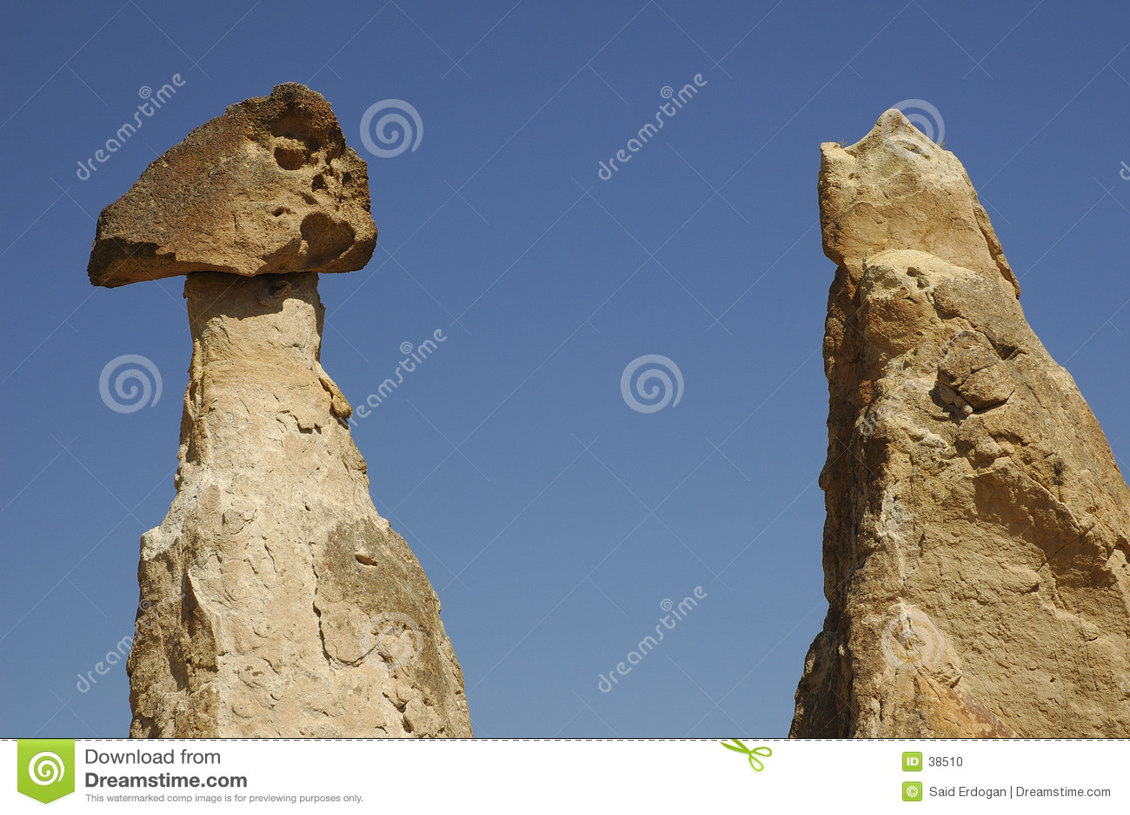 Spalten bei Cappadocia