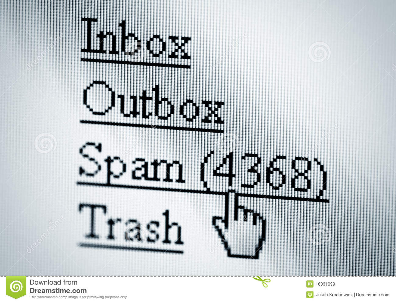 Spam, Computer Screen Royalty Free Stock Images - Image: 16331099