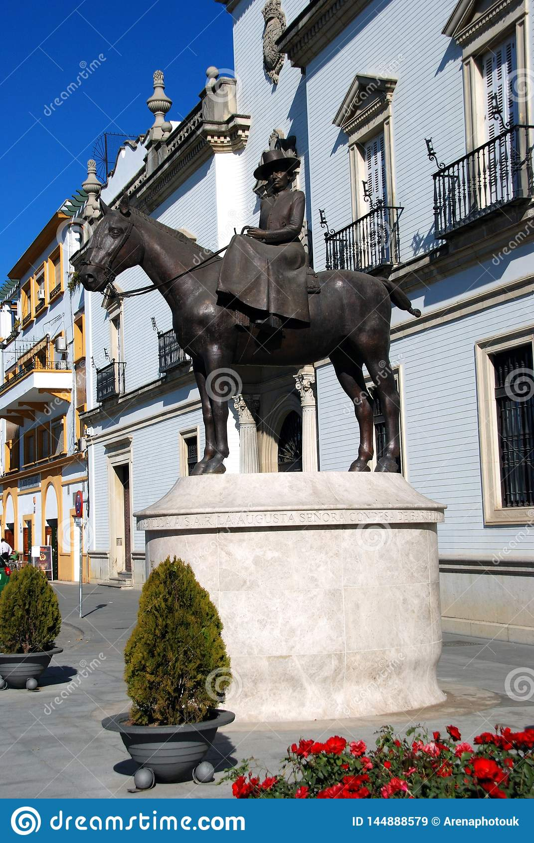 Countess of Barcelona statue, Seville, Spain.