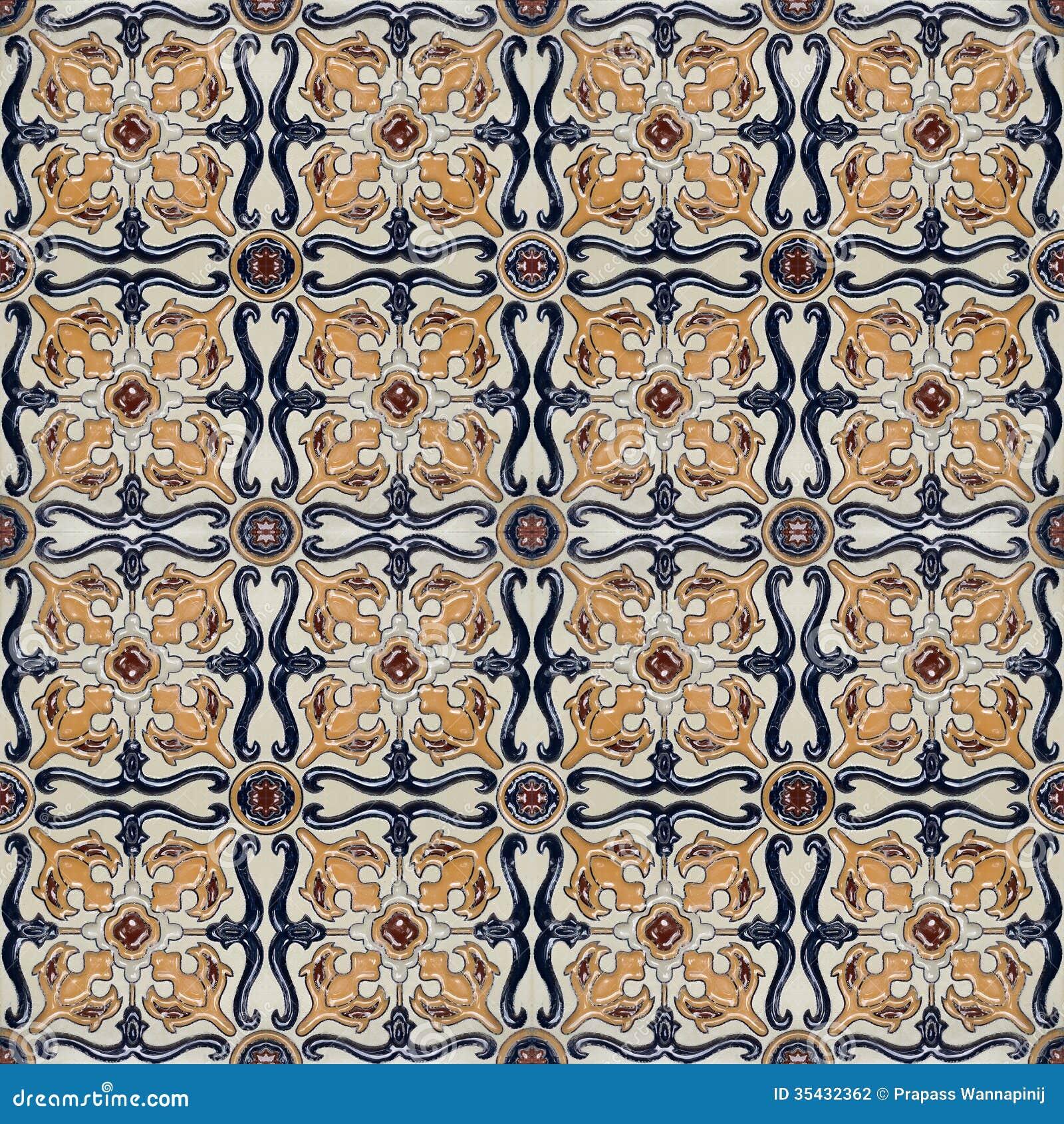 Spanich摩洛哥样式葡萄酒陶瓷砖