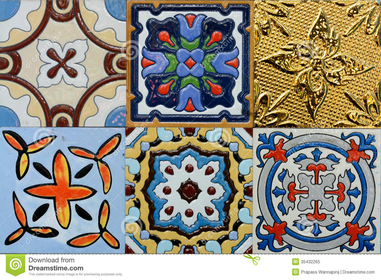 Spanich moroccan style vintage ceramic tile stock image image of spanich moroccan style vintage ceramic tile pattern decorative dailygadgetfo Image collections