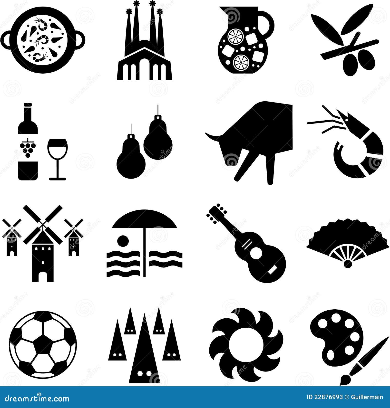 Paella on white vector stock vector image 68986544 - Spanien Piktogramme Stockfotos