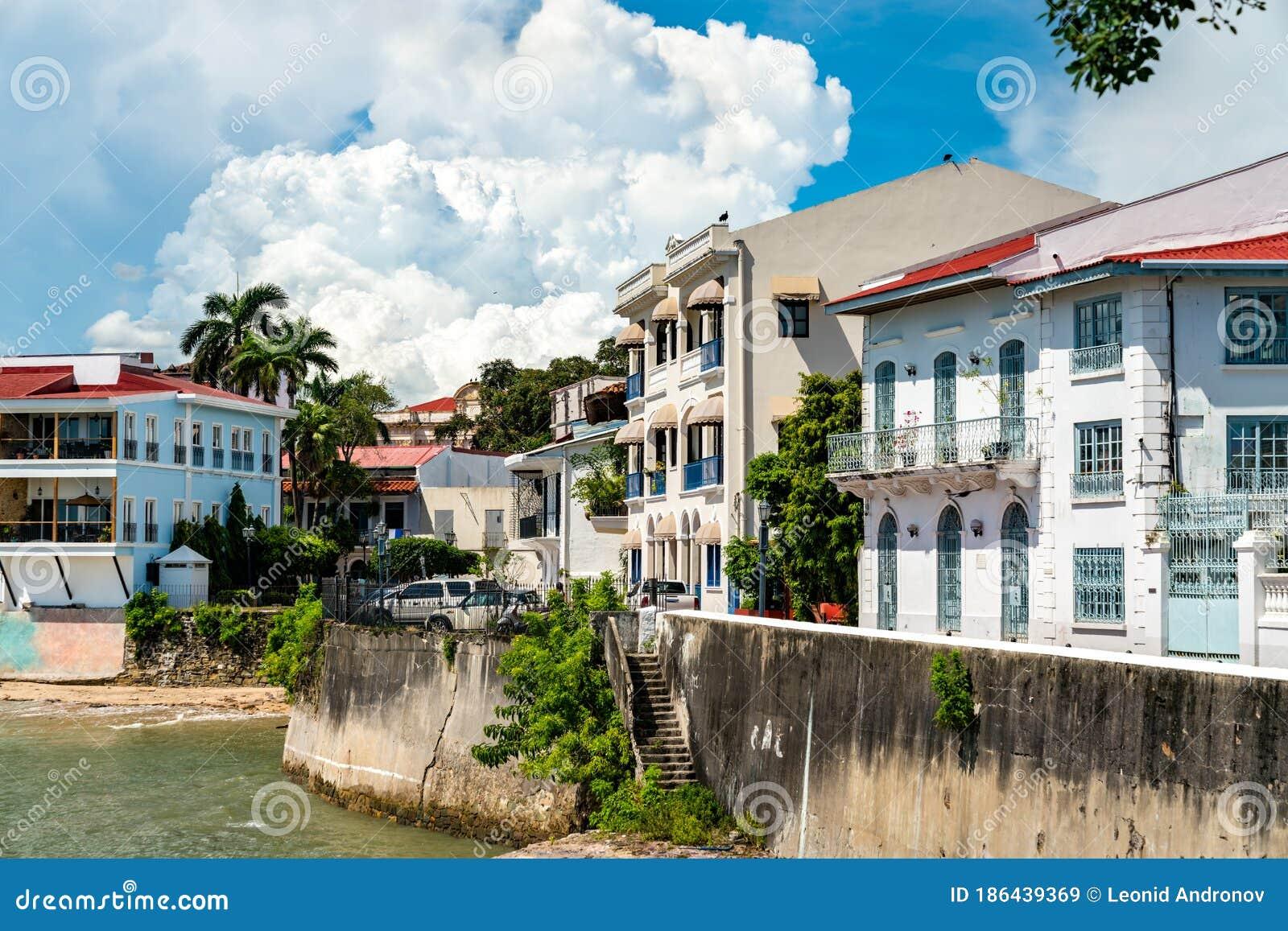 Spanische Kolonialhäuser In Casco Viejo Panama Stadt Stockbild Bild Von Haupt Amerika 186439369
