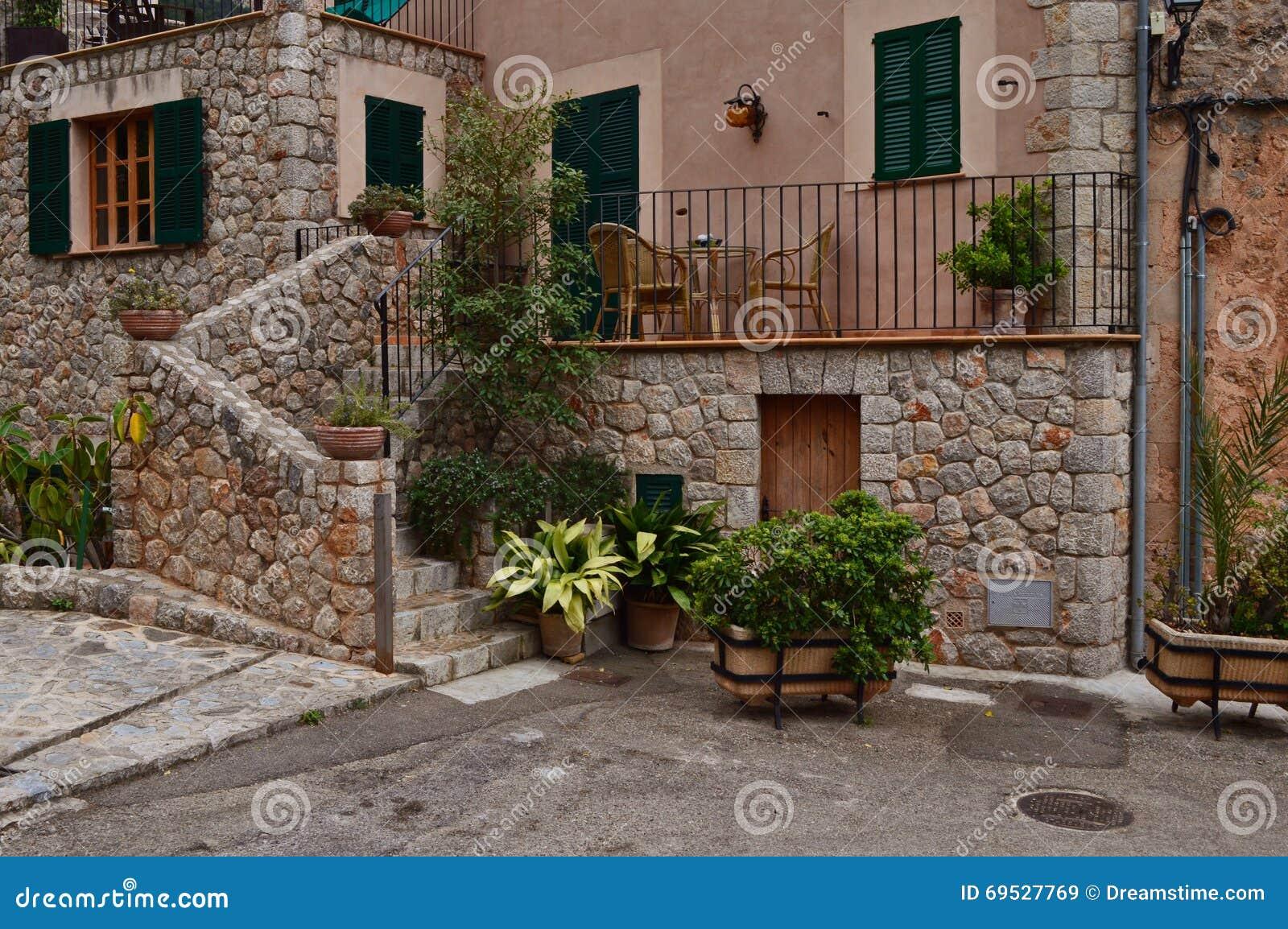 Spanische Terrasse Stockbild Bild Von Klein Mittelmeer 69527769