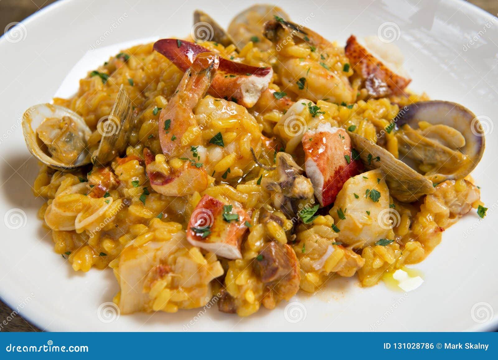 Spanischer Meeresfrüchte Risotto