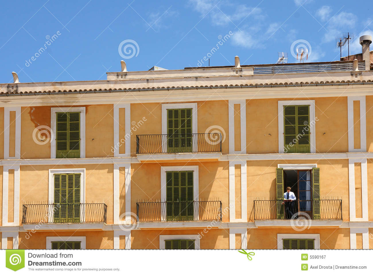 Spanish Apartment Block Royalty Free Stock Photography ...