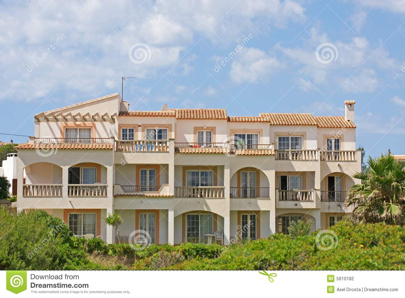 Spanish apartment block stock photo. Image of outside ...