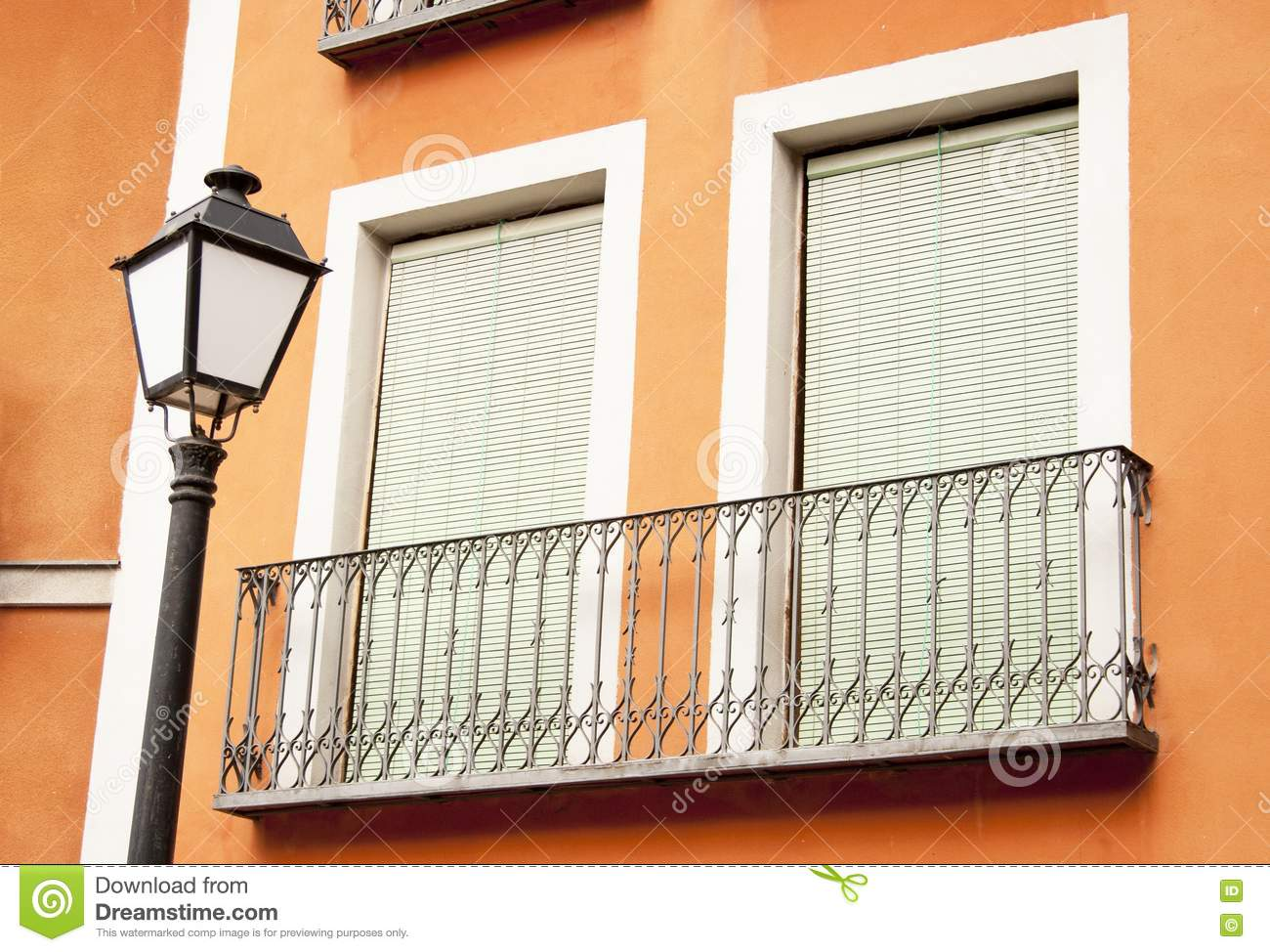 Spanish balconies royalty free stock photography image for Balcony in spanish