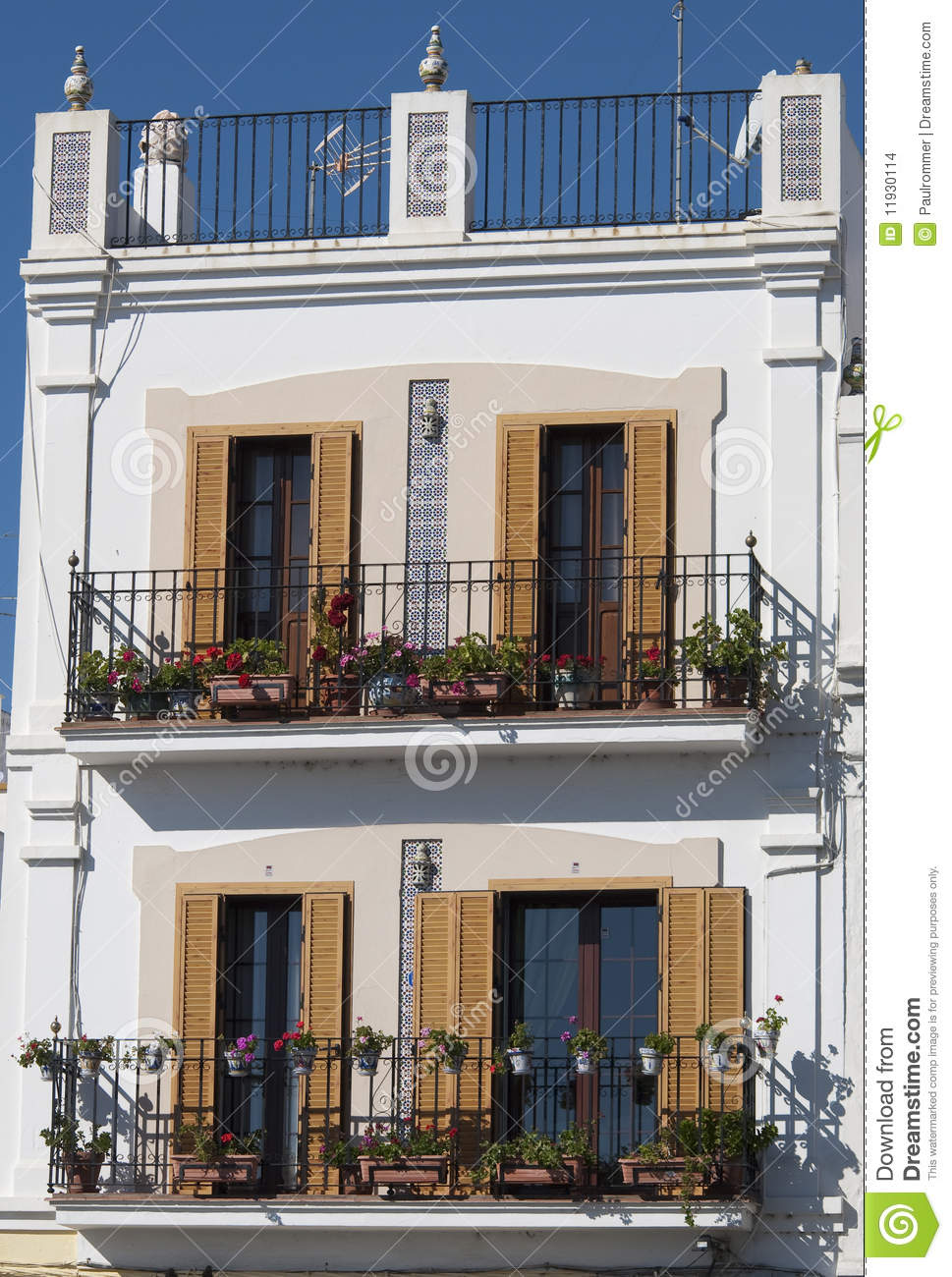 Spanish balcony stock images image 11930114 for Balcony in spanish