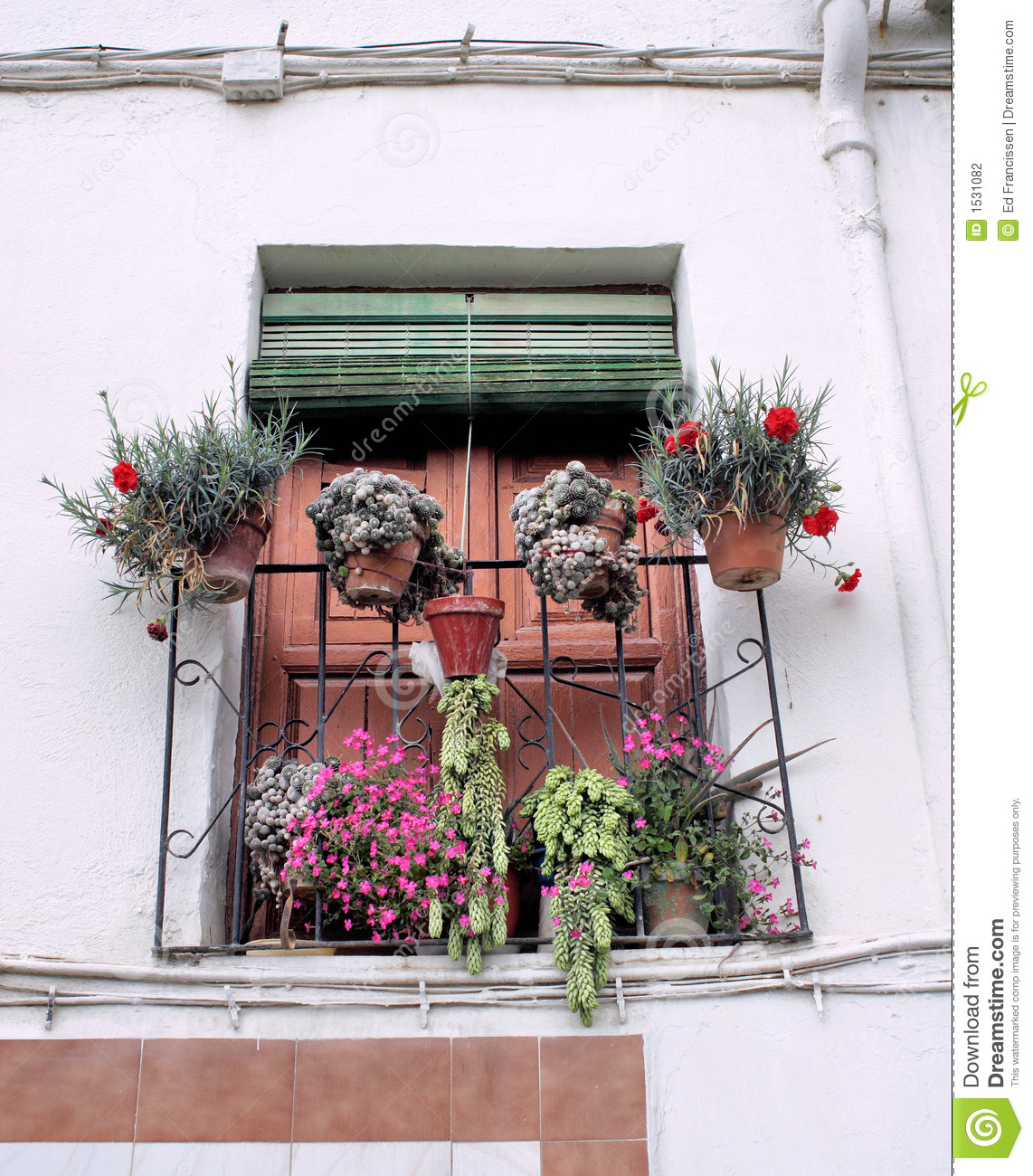 A spanish balcony stock photography image 1531082 for Balcony in spanish
