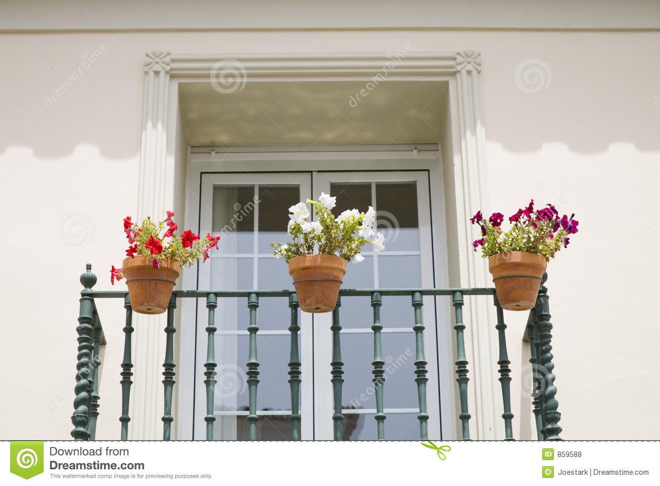 Spanish balcony royalty free stock photos image 859588 for Balcony in spanish