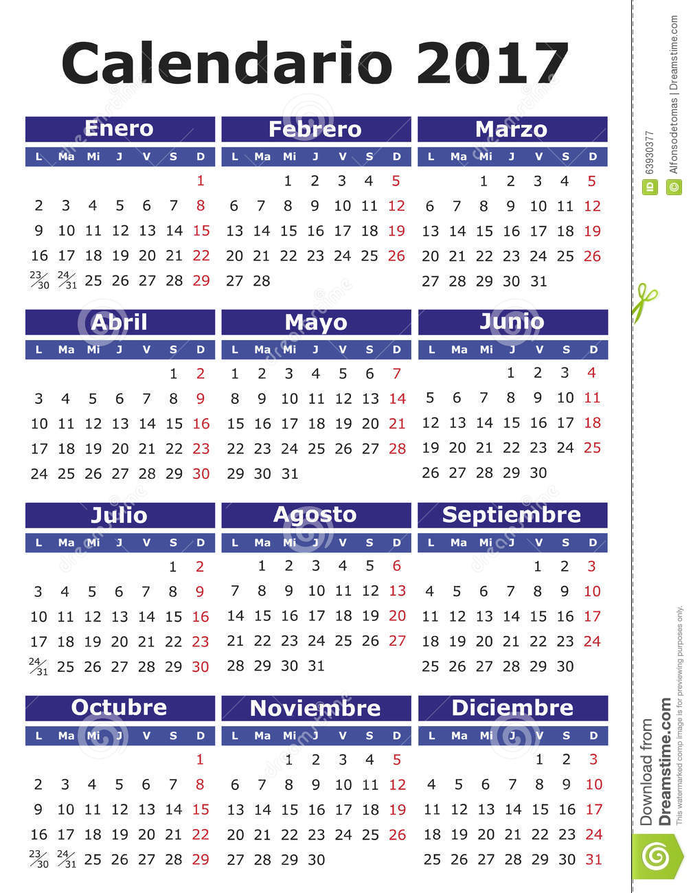 June Calendar In Spanish : Spanish calendar stock vector image of august