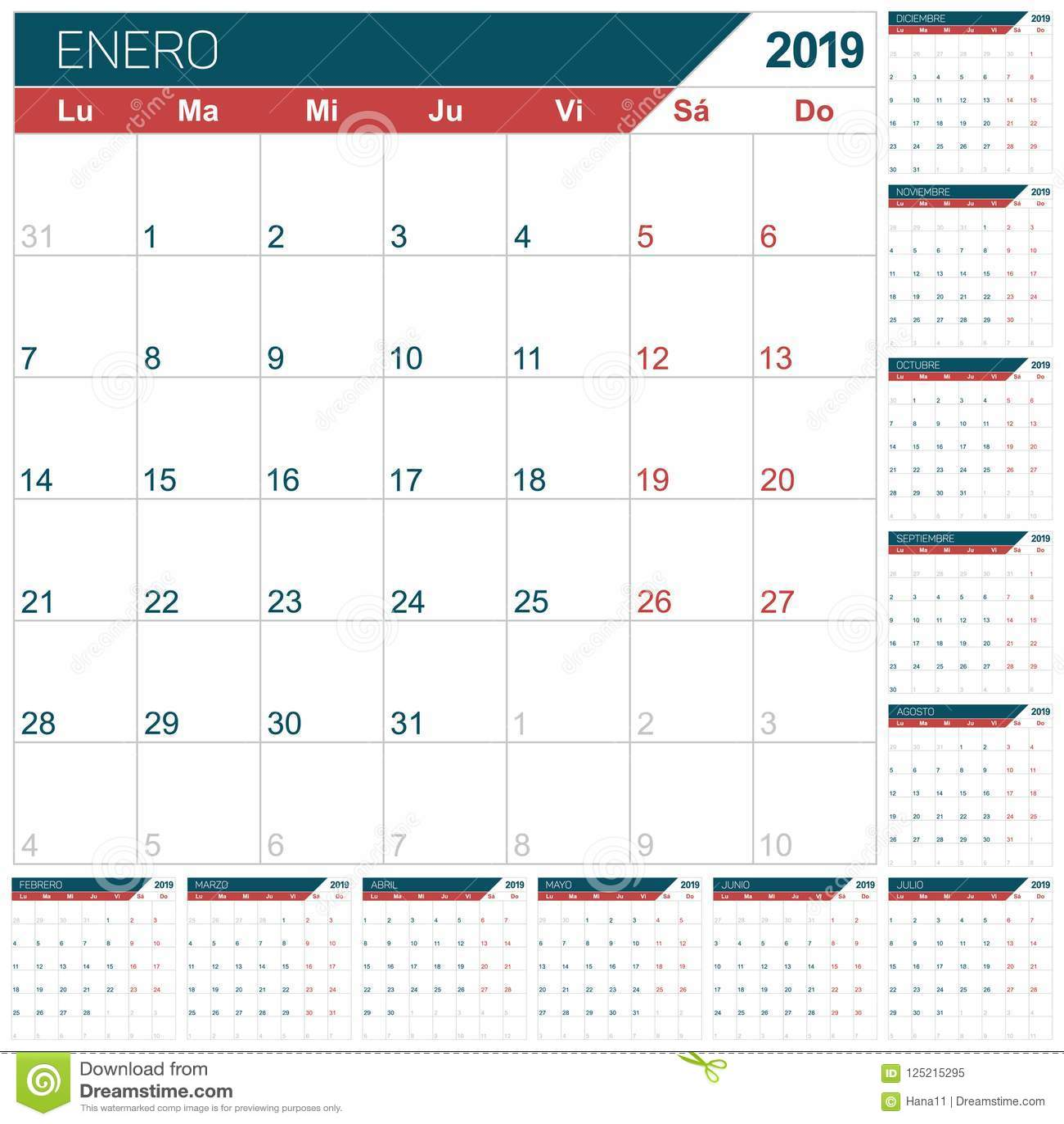 Spanish Calendar Months Topsimages