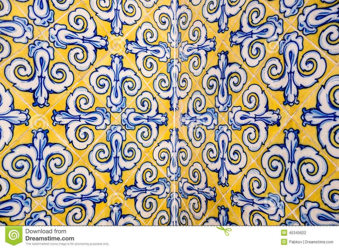 Spanish ceramic tile stock photo image of abstract - Piastrelle spagnole ...
