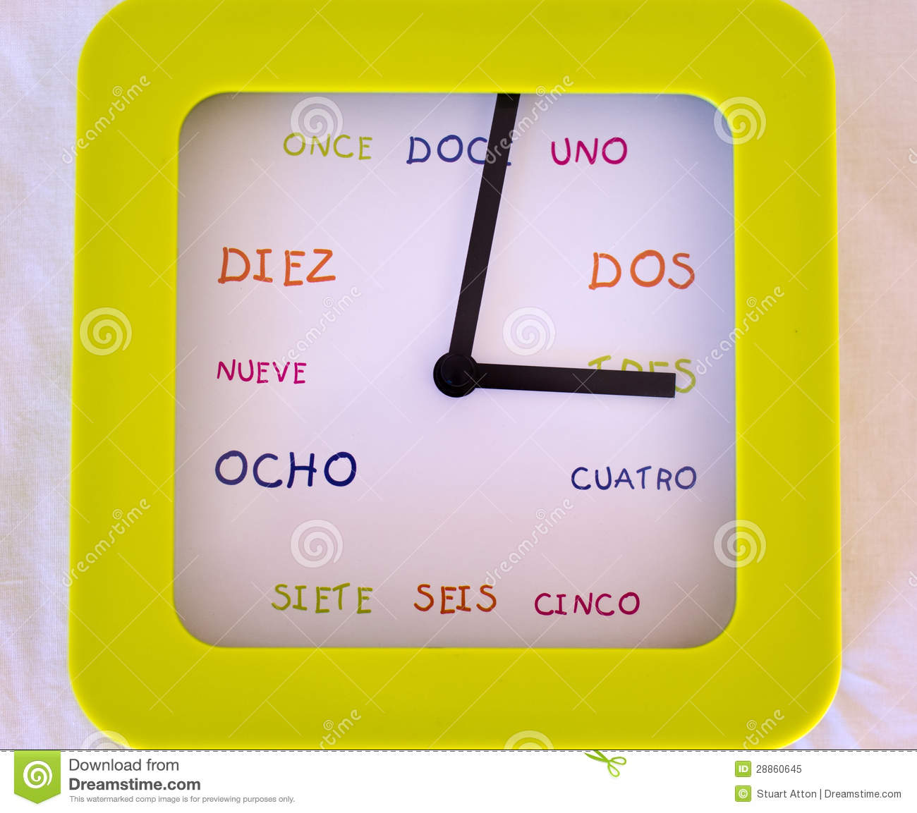 how to say clock in spanish