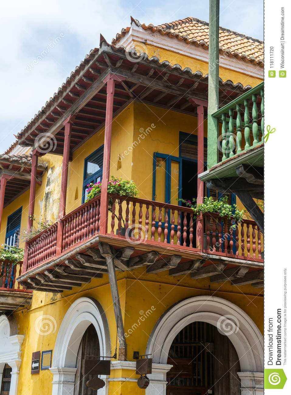 Old Town, Cartagena Columbia, Travel Stock Photo