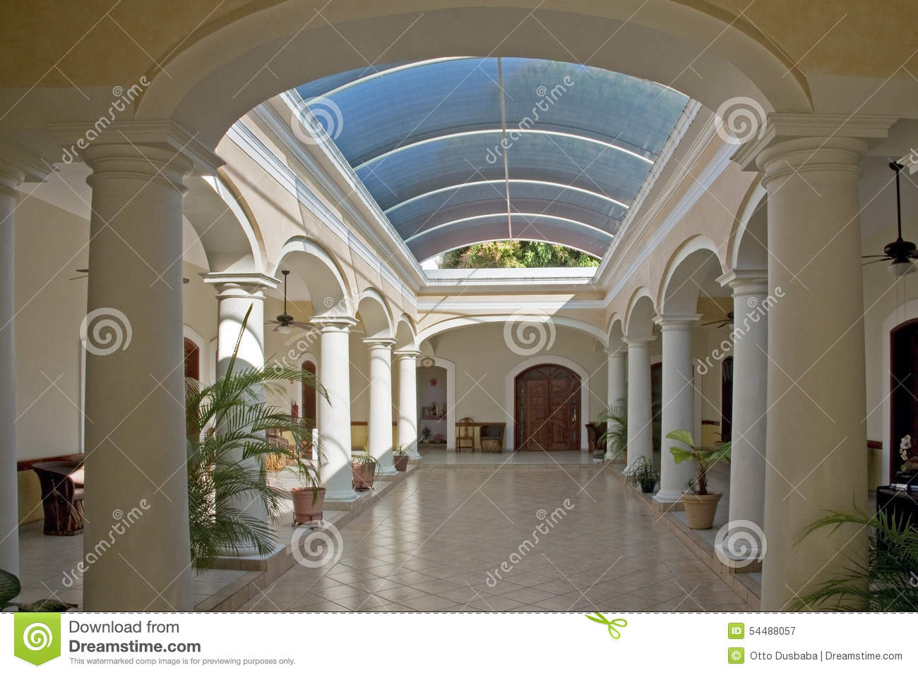 Spanish Colonial Building Interior Stock Image Image