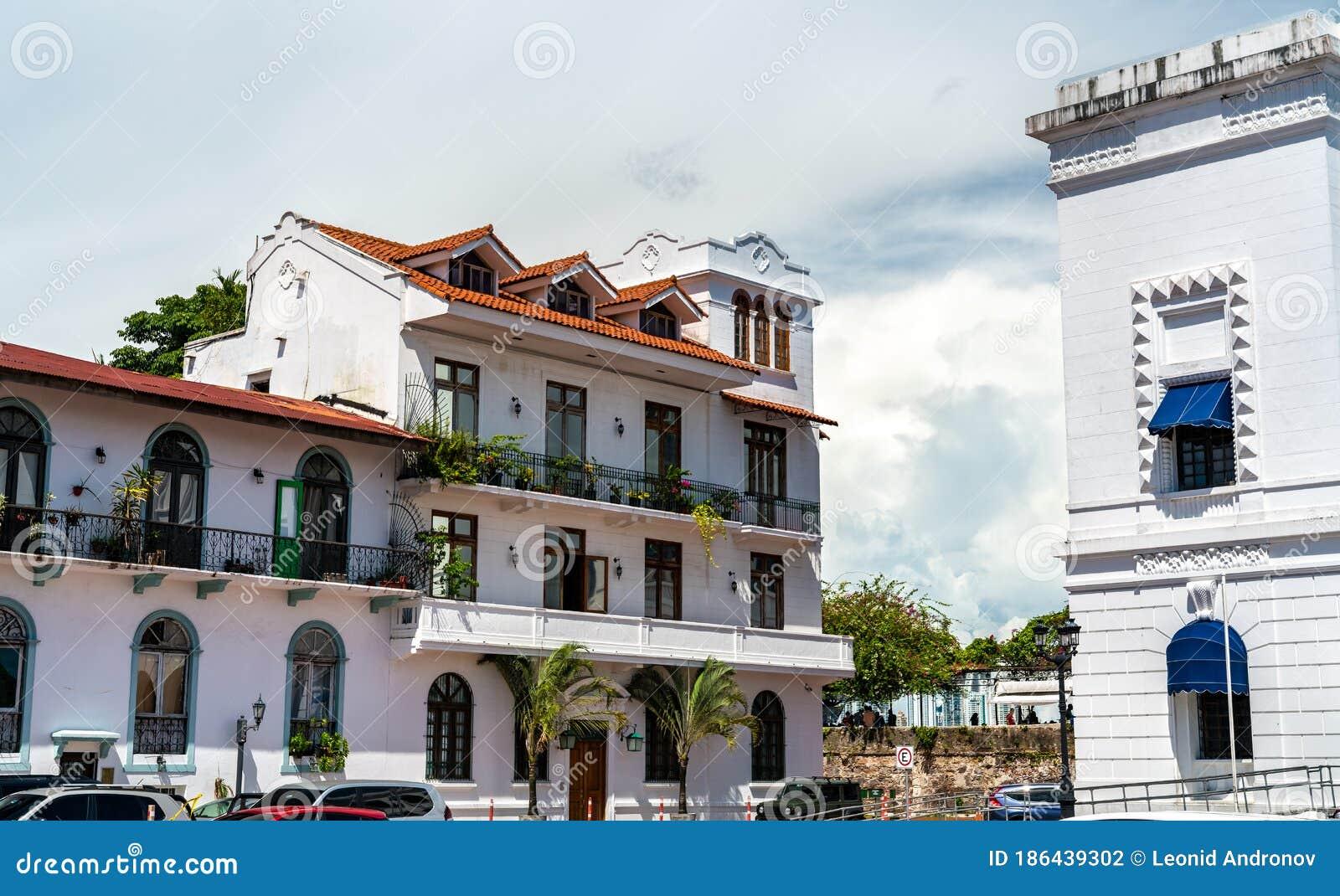 Spanish Colonial Buildings In Casco Viejo Panama City Stock Photo Image Of City Antiguo 186439302