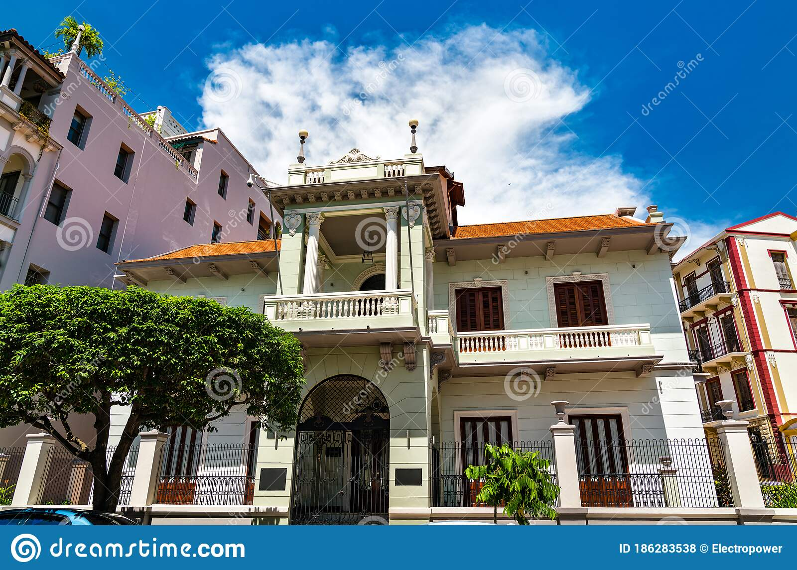 Spanish Colonial House In Casco Viejo Panama City Stock Photo Image Of Architecture Beautiful 186283538
