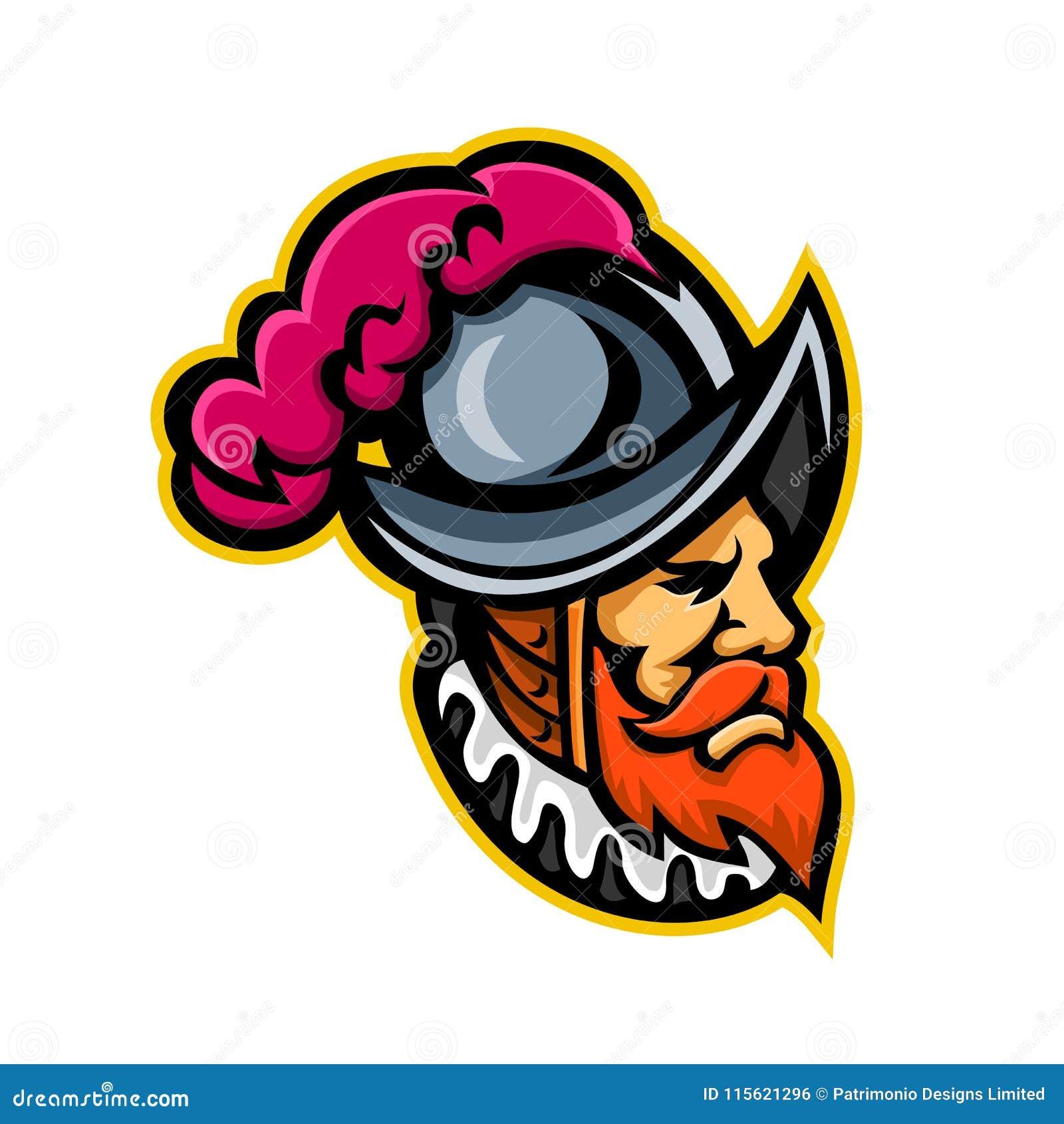 Spanish Conquistador Head Mascot